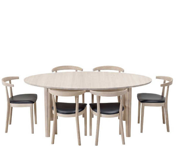 spisebord med plader