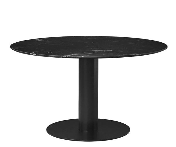 Gubi 2.0 spisebord rund marmor   sort   spiseborde   borde