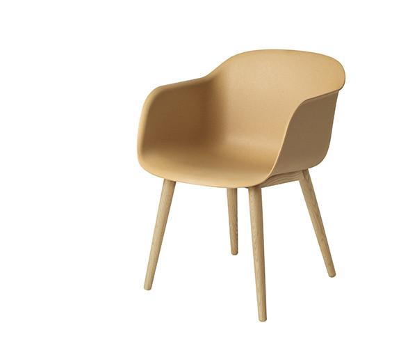 Muuto Fiber Chair - Oak Wood Base - Nature