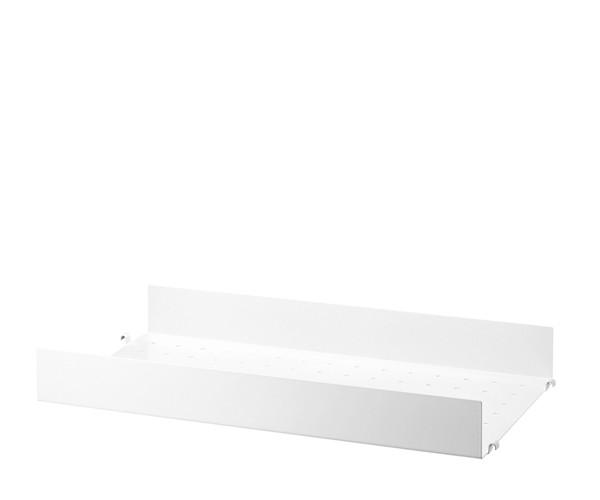 String Metalhylde Høj Kant 58x30cm - Hvid