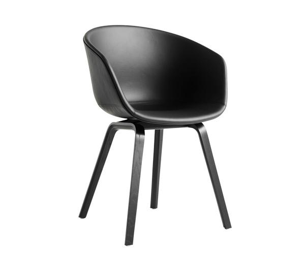 Topnotch HAY About A Chair (AAC23) - Sort Læder - Spisestole - Stole IF16