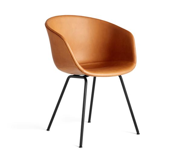 HAY About A Chair (AAC27) Cognac Silk Læder - Sort