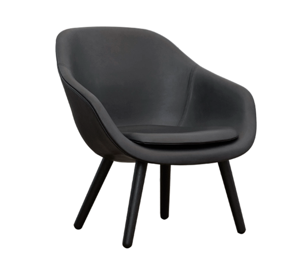 HAY About A Lounge Chair (AAL82) - Silk Læder - Sort