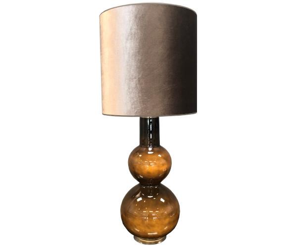 augusta flavia lampe varm grå velour