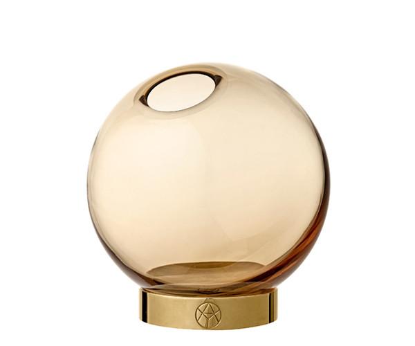AYTM Globe vase amber