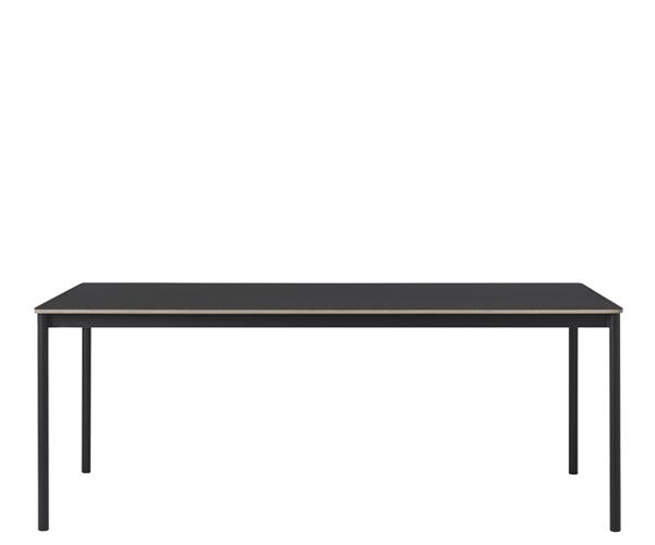 Muuto Base Table - 250x110cm - Sort Linolium