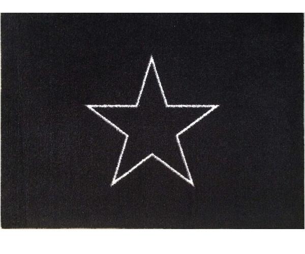 Skriver Collection Black Star designmat - måtte