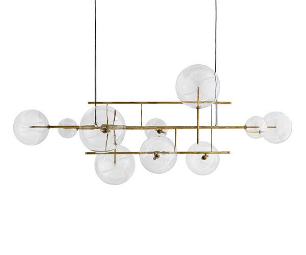 Gallotti & Radice Bolle Orizzontale Lampe - 200cm.