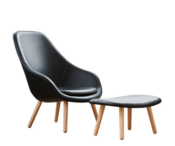 HAY About a Lounge Chair (AAL92) - California Læder - Sort - M.Skammel