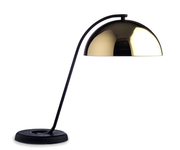 HAY Cloche Bordlampe - Sort/Messing