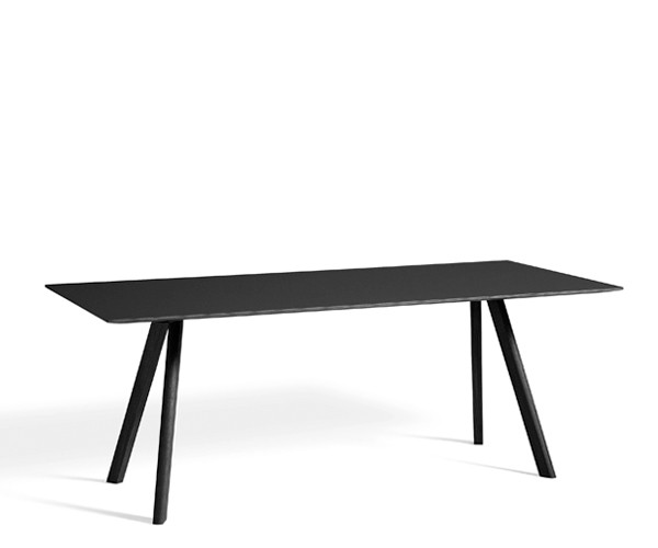 HAY CPH30 Table - 200x90cm - Sort Linolium - Sort