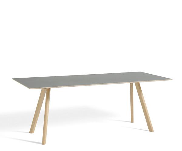 HAY CPH30 Table - 200x90cm - Grå Linolium - Mat Lak