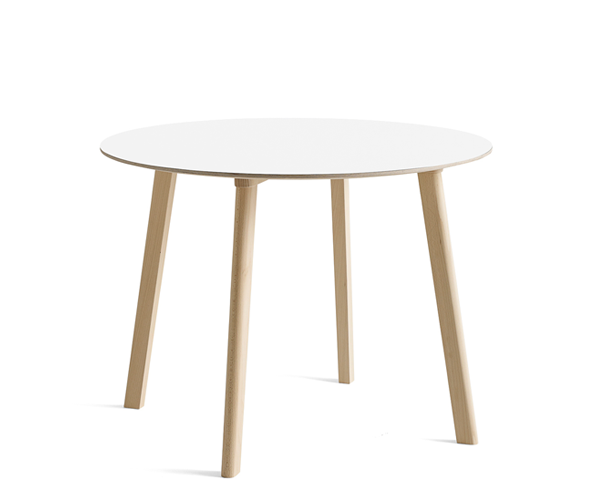 HAY Cph Deux 220 Spisebord - Ø98cm. - Pearl White/Bøg