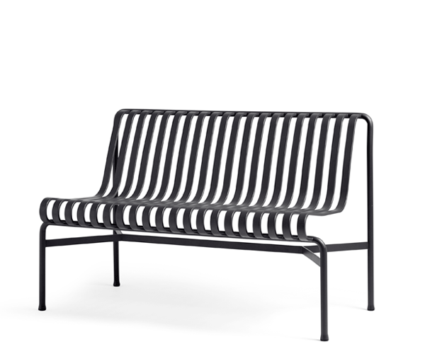 HAY Palissade Dining Bench - Anthracite - Uden Arm