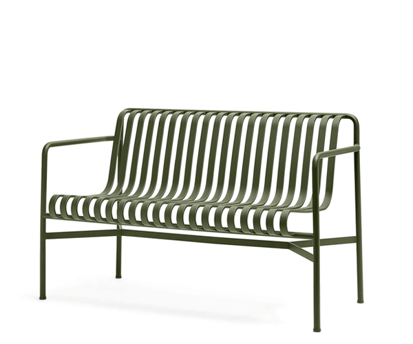 HAY Palissade Dining Bench - Olive