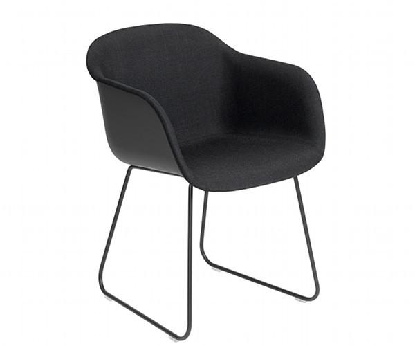 Muuto Fiber Chair Sled - Arm - Front polstring