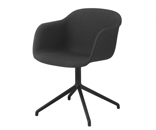 Muuto Fiber Chair Swivel - Arm - Stof