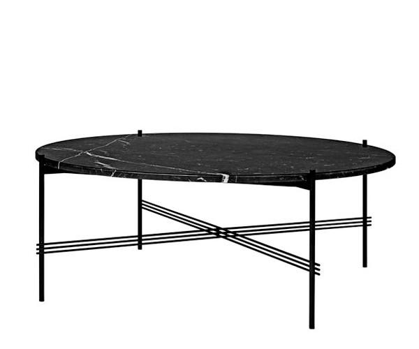 Gubi TS Coffee Table - XL Dia.105cm. - Sort Marmor