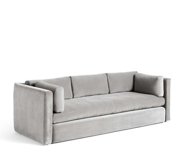 HAY Hackney 3 seater sofa - Warm Grey Lola Velour