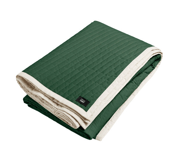 HAY Bias Quilt sengetæppe - Forest Green