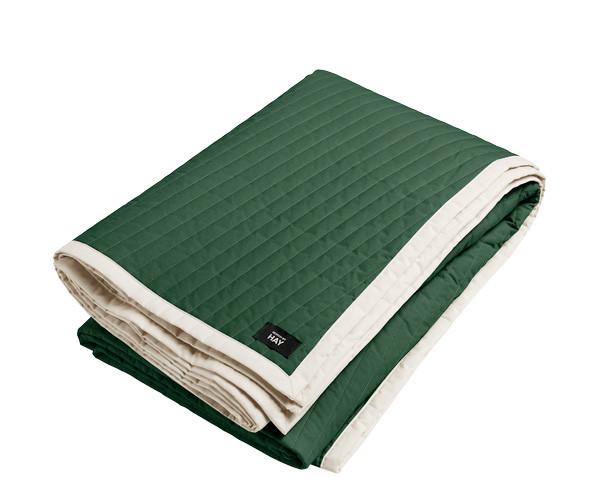HAY Bias Quilt sengetæppe - Forest Green - Lille