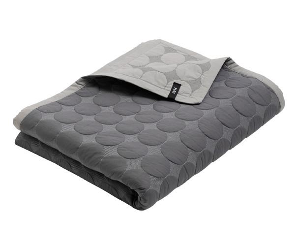 HAY Mega Dot Bed Cover - Sengetæppe - dark grey
