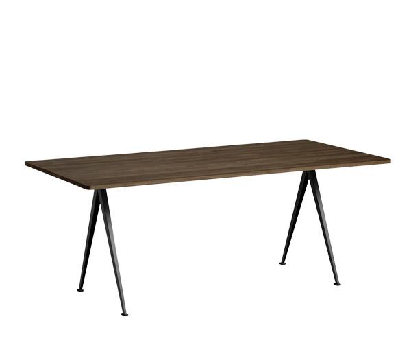 HAY Pyramid Spisebord/Arbejdsbord - 190x85cm - Sort/Røget Eg