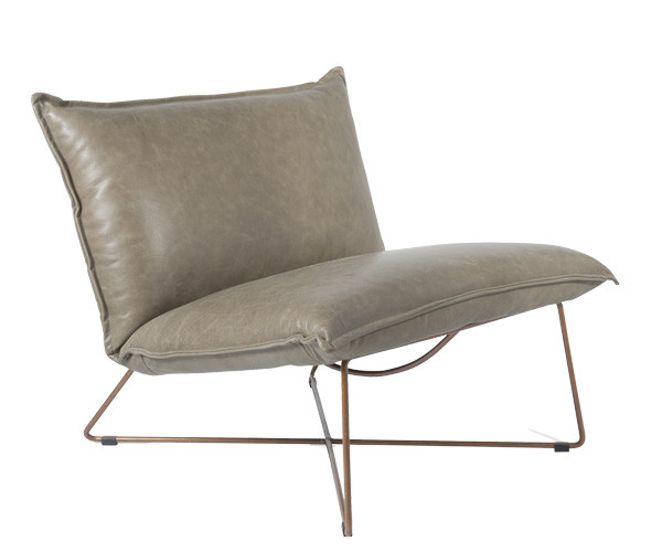 Jess Design Marquess Lav Loungestol - Grå Luxor Læder