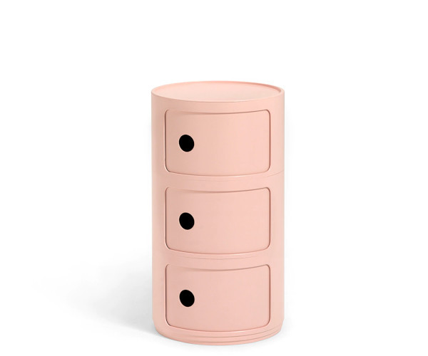 Kartell Componibili pink 3 rum
