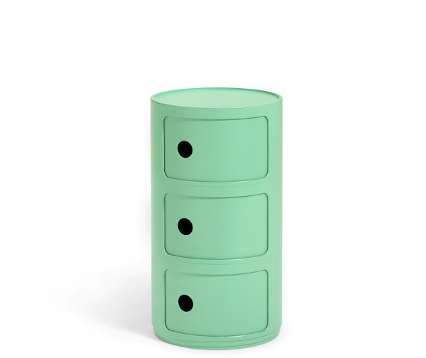 Kartell Componibili green 3 rum