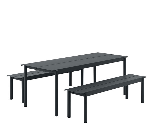 Muuto Linear Steel Set - Sort - 200x75cm