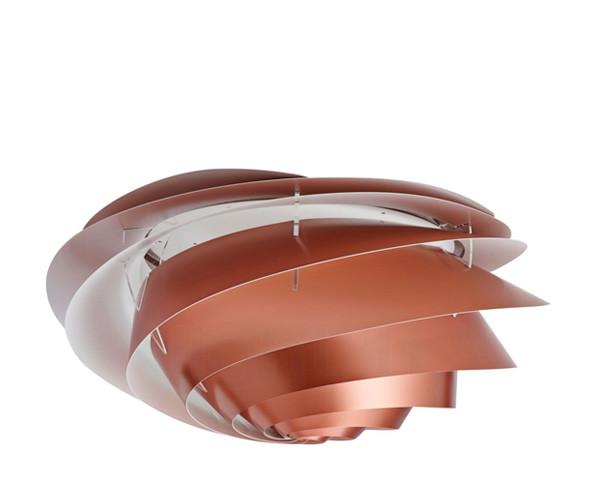 Le Klint Swirl væg- og loftslampe kobber
