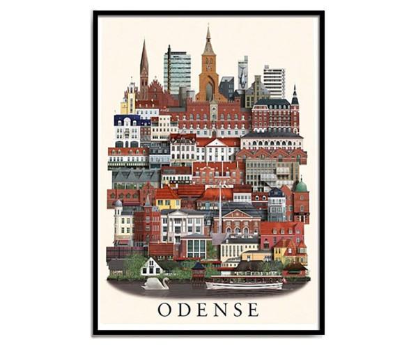 Martin Schwartz Odense 50x70cm Poster