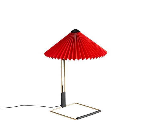 HAY Matin Bordlampe - Small - Lys Rød