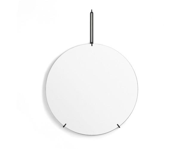 Moebe Wall Mirror - Messing - Dia. 70cm - Sort