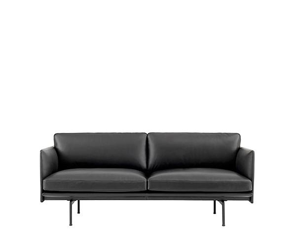 Muuto Outline Sofa Sort Læder