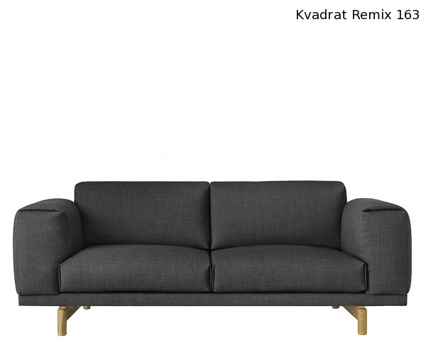 muuto rest sofa 2 pers remix 163 sofaer sofaer. Black Bedroom Furniture Sets. Home Design Ideas