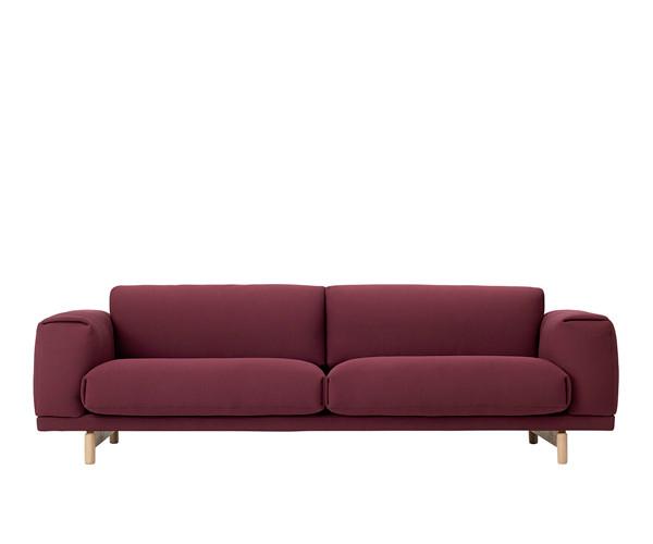 muuto rest sofa 3 pers rime 591 sofaer sofaer. Black Bedroom Furniture Sets. Home Design Ideas