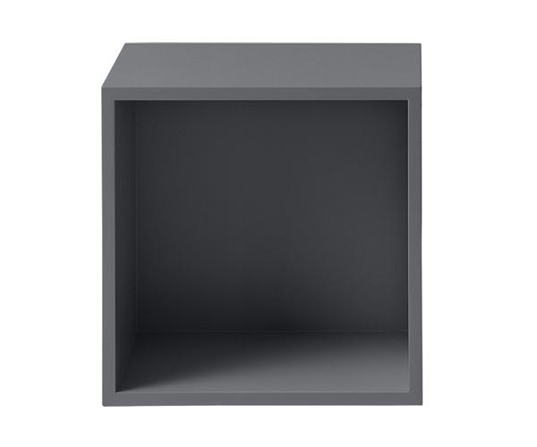 MUUTO Stacked Modul Medium med Bagbeklædning i Dark Grey