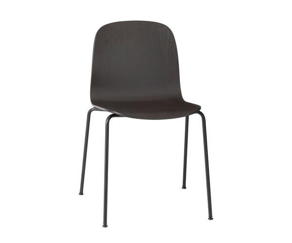 Muuto Visu Chair - Black Tube Base - Black