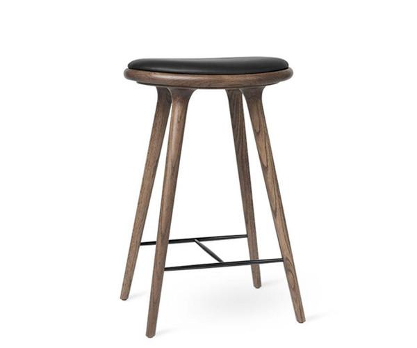 Mater barstol mørk eg - H: 69cm