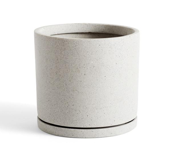 HAY Plant Pot With Saucer - XXL - Grå