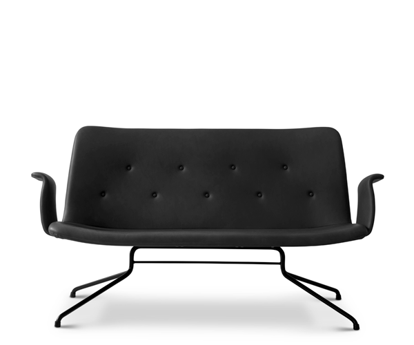 Bent Hansen Primum Sofa - Med Armlæn - Sort Adrian Læder