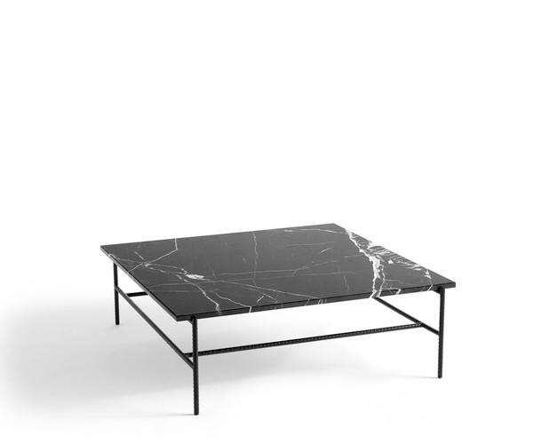 Hay Rebar Sofabord 100x104 cm. - Sort Marmor