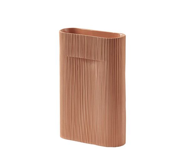 Muuto Ridge Vase - Terracotta - Small