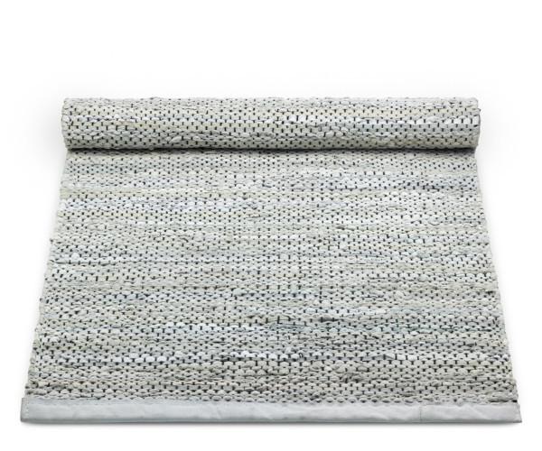 rug solidt light grey læder