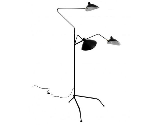 SeSerge Mouille Standing Lamp 3 Rotating Arms - L3B