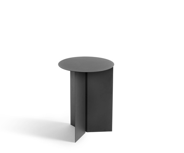 HAY Slit Table - Round - High - Black