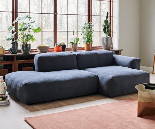 HAY Mags Soft Sofa - Low Arm - Combination 3 - Linara Stof 198