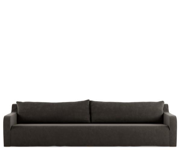 tine k home sofa soft velour smoke
